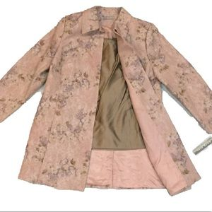 Kate Hill Two-Piece Set, Floral Woven Jacket + Top